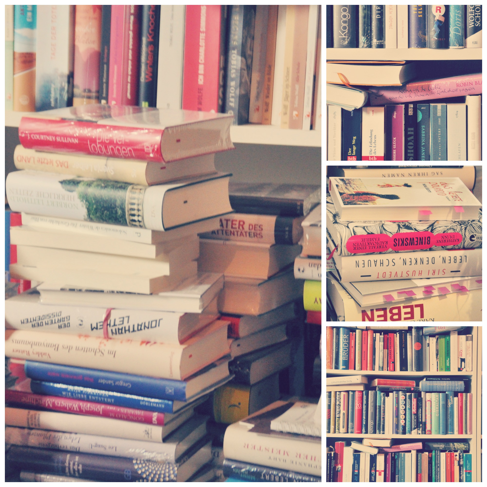 Bücherregal Mit Büchern Hochkant