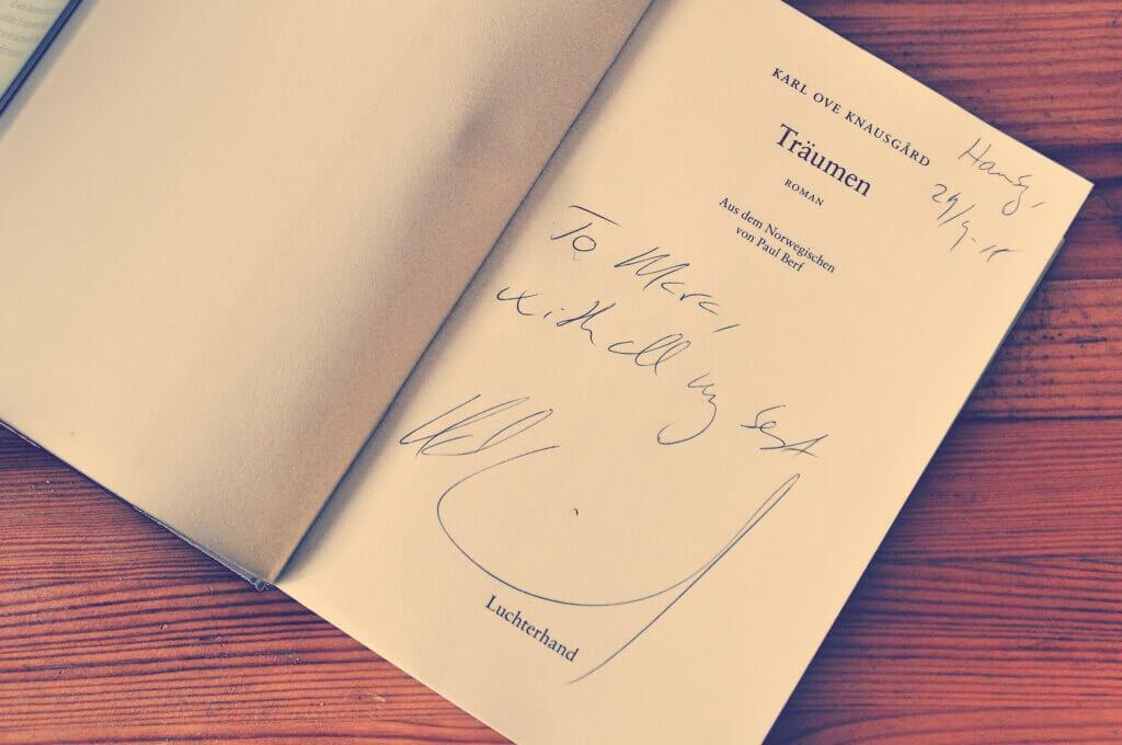 Knausgard-Autogramm