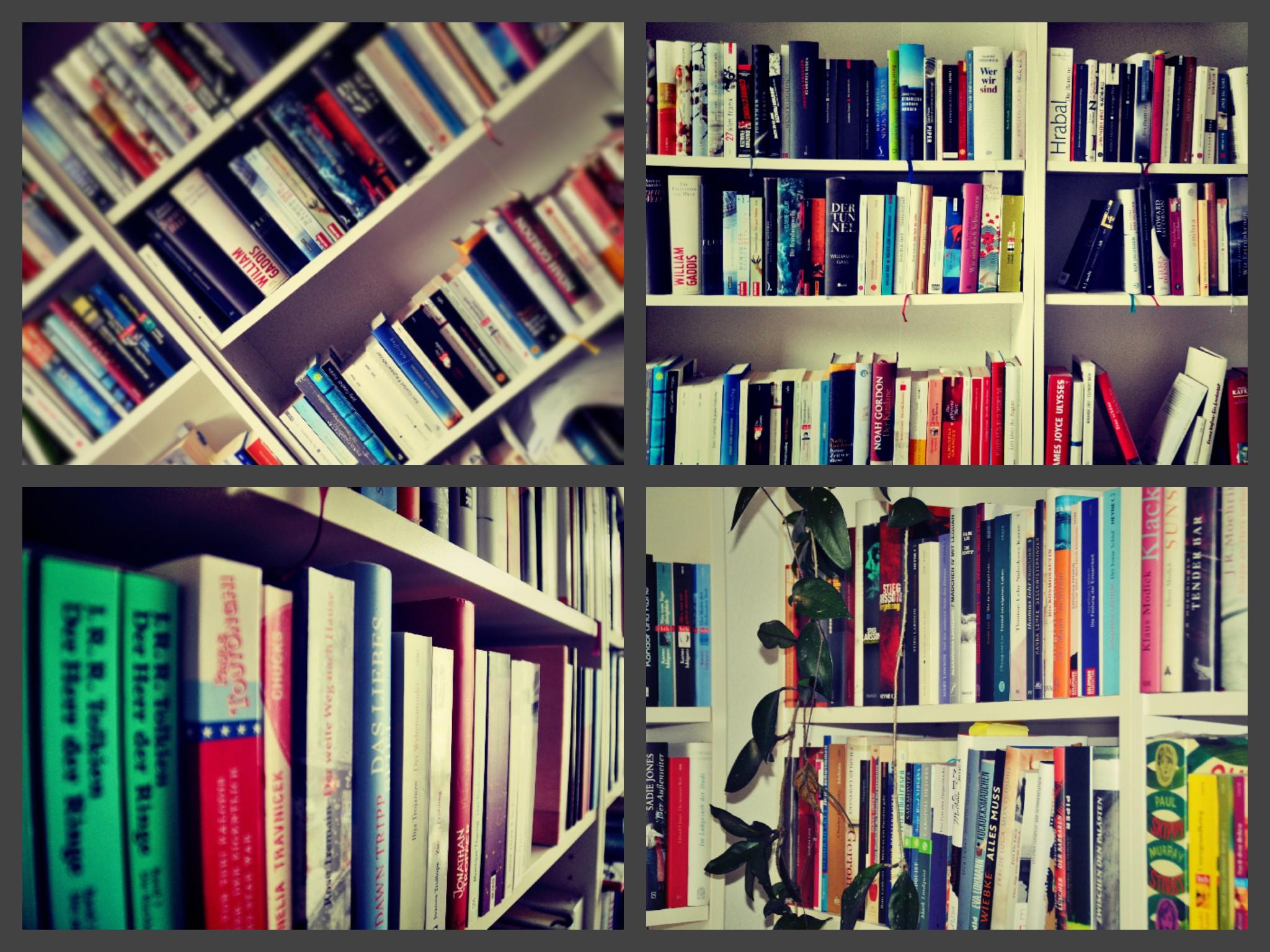 Bibliothek Collage